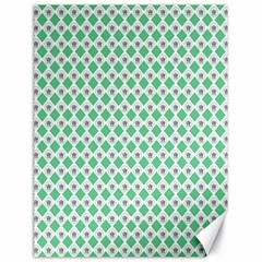 Crown King Triangle Plaid Wave Green White Canvas 18  X 24   by Alisyart