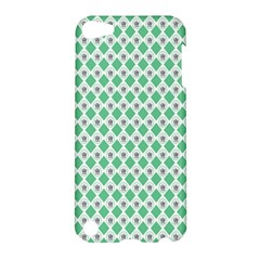 Crown King Triangle Plaid Wave Green White Apple Ipod Touch 5 Hardshell Case by Alisyart