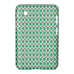 Crown King Triangle Plaid Wave Green White Samsung Galaxy Tab 2 (7 ) P3100 Hardshell Case  by Alisyart
