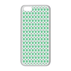 Crown King Triangle Plaid Wave Green White Apple Iphone 5c Seamless Case (white) by Alisyart