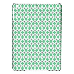 Crown King Triangle Plaid Wave Green White Ipad Air Hardshell Cases by Alisyart