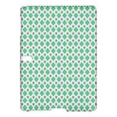 Crown King Triangle Plaid Wave Green White Samsung Galaxy Tab S (10 5 ) Hardshell Case  by Alisyart