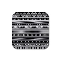 Myria Wrapping Paper Black Rubber Square Coaster (4 Pack)