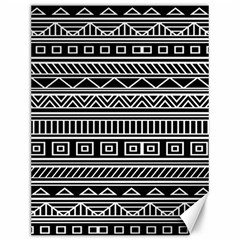 Myria Wrapping Paper Black Canvas 12  X 16   by Alisyart