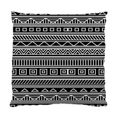 Myria Wrapping Paper Black Standard Cushion Case (one Side)
