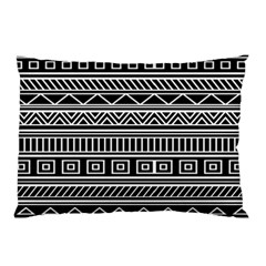 Myria Wrapping Paper Black Pillow Case by Alisyart