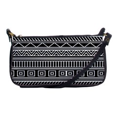 Myria Wrapping Paper Black Shoulder Clutch Bags