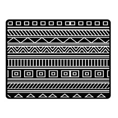 Myria Wrapping Paper Black Fleece Blanket (small)