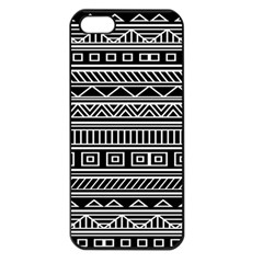 Myria Wrapping Paper Black Apple Iphone 5 Seamless Case (black) by Alisyart