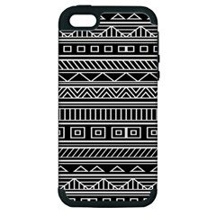 Myria Wrapping Paper Black Apple Iphone 5 Hardshell Case (pc+silicone)