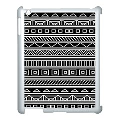 Myria Wrapping Paper Black Apple Ipad 3/4 Case (white)