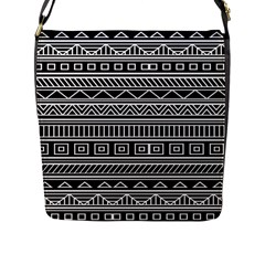 Myria Wrapping Paper Black Flap Messenger Bag (l)  by Alisyart
