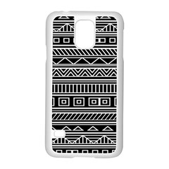 Myria Wrapping Paper Black Samsung Galaxy S5 Case (white)