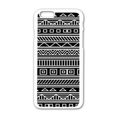 Myria Wrapping Paper Black Apple Iphone 6/6s White Enamel Case
