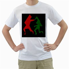 Ninja Graphics Red Green Black Men s T-shirt (white) (two Sided) by Alisyart