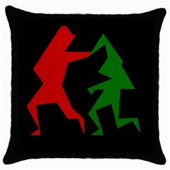 Ninja Graphics Red Green Black Throw Pillow Case (black) by Alisyart