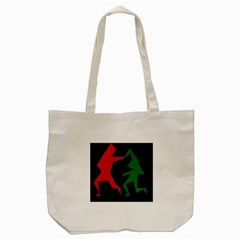 Ninja Graphics Red Green Black Tote Bag (cream) by Alisyart
