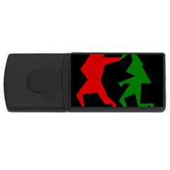 Ninja Graphics Red Green Black Usb Flash Drive Rectangular (4 Gb) by Alisyart
