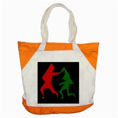 Ninja Graphics Red Green Black Accent Tote Bag