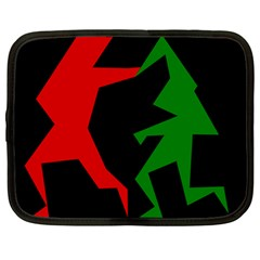 Ninja Graphics Red Green Black Netbook Case (large) by Alisyart