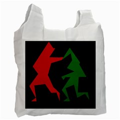 Ninja Graphics Red Green Black Recycle Bag (one Side) by Alisyart