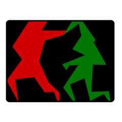 Ninja Graphics Red Green Black Fleece Blanket (small) by Alisyart