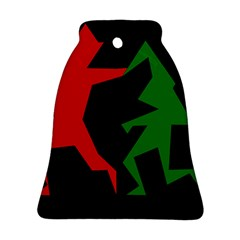 Ninja Graphics Red Green Black Ornament (bell) by Alisyart