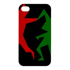 Ninja Graphics Red Green Black Apple Iphone 4/4s Premium Hardshell Case by Alisyart