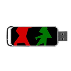 Ninja Graphics Red Green Black Portable Usb Flash (two Sides) by Alisyart