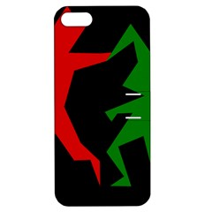Ninja Graphics Red Green Black Apple Iphone 5 Hardshell Case With Stand