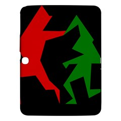 Ninja Graphics Red Green Black Samsung Galaxy Tab 3 (10 1 ) P5200 Hardshell Case  by Alisyart