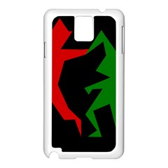 Ninja Graphics Red Green Black Samsung Galaxy Note 3 N9005 Case (white)