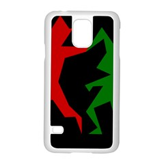 Ninja Graphics Red Green Black Samsung Galaxy S5 Case (white)
