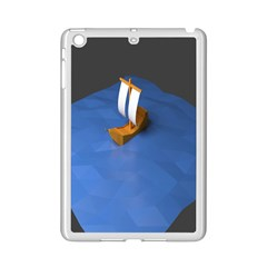 Low Poly Boat Ship Sea Beach Blue Ipad Mini 2 Enamel Coated Cases