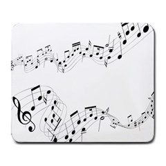 Music Note Song Black White Large Mousepads