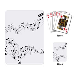 Music Note Song Black White Playing Card by Alisyart