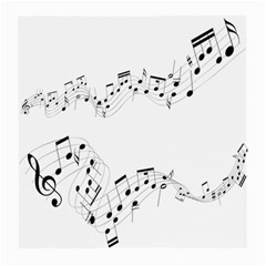 Music Note Song Black White Medium Glasses Cloth (2 Side) by Alisyart