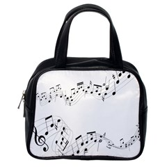 Music Note Song Black White Classic Handbags (one Side) by Alisyart