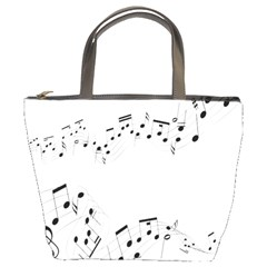 Music Note Song Black White Bucket Bags by Alisyart