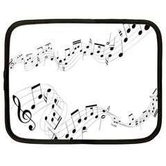 Music Note Song Black White Netbook Case (xl)  by Alisyart