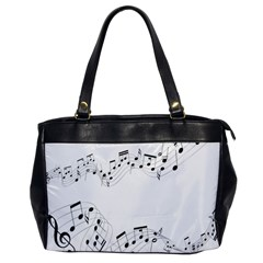 Music Note Song Black White Office Handbags by Alisyart