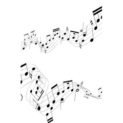 Music Note Song Black White 5 5  X 8 5  Notebooks