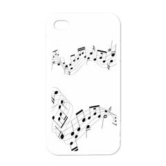 Music Note Song Black White Apple Iphone 4 Case (white)