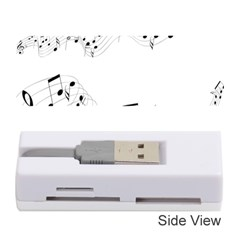 Music Note Song Black White Memory Card Reader (stick)  by Alisyart