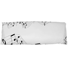 Music Note Song Black White Body Pillow Case (dakimakura) by Alisyart