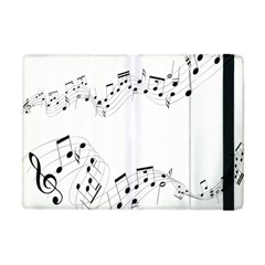 Music Note Song Black White Apple Ipad Mini Flip Case by Alisyart