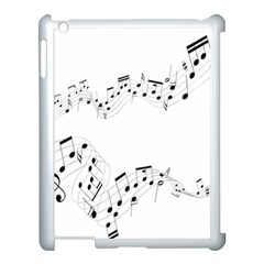 Music Note Song Black White Apple Ipad 3/4 Case (white)