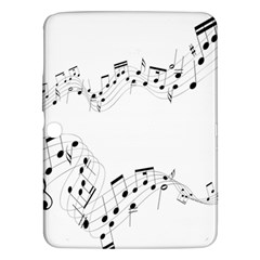 Music Note Song Black White Samsung Galaxy Tab 3 (10 1 ) P5200 Hardshell Case  by Alisyart