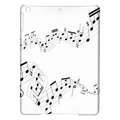 Music Note Song Black White Ipad Air Hardshell Cases by Alisyart