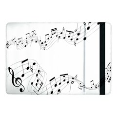 Music Note Song Black White Samsung Galaxy Tab Pro 10 1  Flip Case